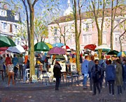 Artists Painting Framed Prints - April in Paris Framed Print by Roelof Rossouw