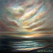 Sunsets Original Paintings - Away 2 by Gina De Gorna