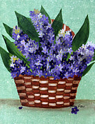 Barbara Griffin - Basket of Hyacinths