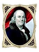 American Revolution Metal Prints - Ben Franklin Metal Print by War Is Hell Store