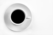 Clean Prints - Black Coffee Print by Gert Lavsen