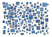 Frank Tschakert - Blue Abstract Rectangles