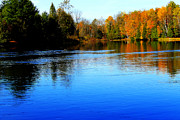 Michigan Fall Colors Posters - Blue Lake  Poster by Scott Hovind