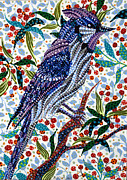 Bluejay Paintings - Bluejay by Erika Pochybova-Johnson