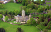 Aerial Photography Originals - Bryn Athyn Cathedral 900 Cathedral Road Bryn Athyn PA 19009 by Duncan Pearson