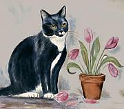 Frances Gillotti - Cat Painting
