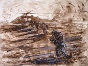 Helicopters Paintings - Charlie Mike by Zaira Dzhaubaeva