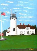 New England Lighthouse Painting Prints - Chatham Lighthouse Painting Print by Frederic Kohli