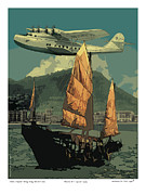 Pan Am Framed Prints - China Clipper Framed Print by Kenneth De Tore