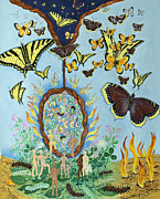 Shoshanah Dubiner Framed Prints - Chrysalis for Humanity Framed Print by Shoshanah Dubiner