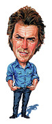 Art  Prints - Clint Eastwood Print by Art