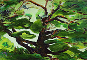 Tree Roots Mixed Media Prints - Family Tree Print by AnDe Herbert