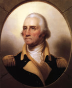 American Army Painting Framed Prints - General Washington Framed Print by War Is Hell Store