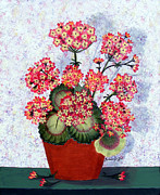 Barbara Griffin - Geraniums in a Copper Pot