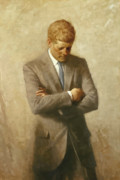 Portrait Paintings - John F Kennedy by War Is Hell Store