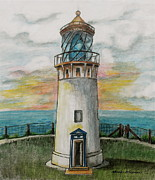 Interior Design Prints - Kilauea Lighthouse Print by Linda Simon