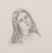 Spiritual Energy Art Drawings - Look Upon Ye Angel by Bruce Zboray
