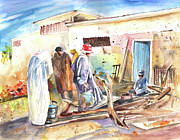 Essaouira Paintings - Moroccan Market 02 by Miki De Goodaboom