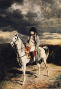 Emperor Framed Prints - Napoleon Bonaparte On Horseback Framed Print by War Is Hell Store