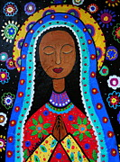 Our Lady Painting Framed Prints - Our Lady Of Guadalupe Framed Print by Pristine Cartera Turkus