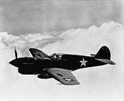 Fighter Plane Photos - P-40 Warhawk by War Is Hell Store