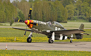 P51d Mustang Print by Conny Sjostrom