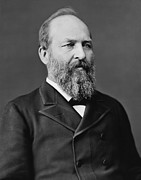 Government Photo Framed Prints - President James Garfield Framed Print by War Is Hell Store