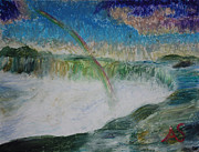 Alex Shear Prints - Rainbow Over Niagra Falls Print by Alex  Shear