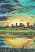 Sunsets Original Paintings - Secret Place by Gina De Gorna