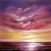 Sunsets Original Paintings - Splendid by Gina De Gorna