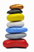 Sami Sarkis - Stack of multi-colored pebbles