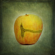 Rosaceae Posters - Textured apple Poster by Bernard Jaubert