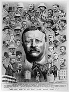 Profile Drawings Posters - Theodore Roosevelt Poster by Granger