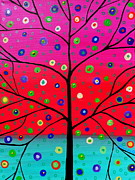 Pristine Cartera Turkus - Tree Of Life Painting