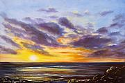 Sunsets Original Paintings - Tropical Sunset by Gina De Gorna