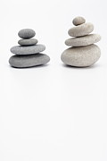 Sami Sarkis - Two stacks of white and gray pebbles