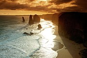 12 Apostles Framed Prints - 12 Apostles at Sunset Framed Print by Chris Anthony