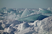 Peter L Wyatt Art - Door County Scenery - Winter - Ice Pressure Ridges by Peter L Wyatt
