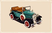 Fire Images Digital Art - 1929 Ford Cabriolet by Garry Staranchuk