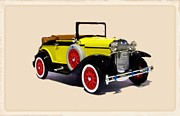 Cadillac Digital Art Originals - 1929 Ford Model A Cabriolet  by Garry Staranchuk