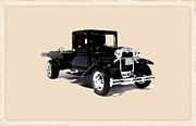 Fire Images Digital Art - 1929 Ford Model A Flatbed Truck by Garry Staranchuk