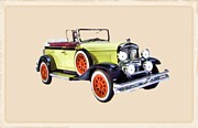 Fire Images Digital Art - 1930 Buick Marquette Phaeton by Garry Staranchuk