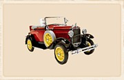 Cadillac Digital Art Originals - 1931 Ford Model A Deluxe Roadster by Garry Staranchuk