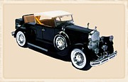 Fire Images Digital Art - 1932 Chrysler LeBaron Phaeton by Garry Staranchuk