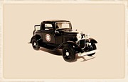 Fire Images Digital Art - 1932 Ford Coupe HP black by Garry Staranchuk