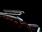 Hotrod Digital Art Posters - 1940 Chevy Hood Ornament Poster by Douglas Pittman