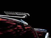 Custom Automobile Digital Art Posters - 1940 Chevy Hood Ornament take 2 Poster by Douglas Pittman