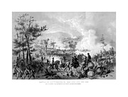 North Mixed Media Framed Prints - Battle of Gettysburg Framed Print by War Is Hell Store