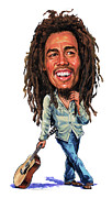 Art  Prints - Bob Marley Print by Art