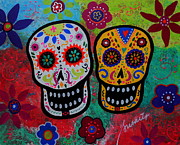 Mexican Paintings - Couple Dia De Los Muertos by Pristine Cartera Turkus